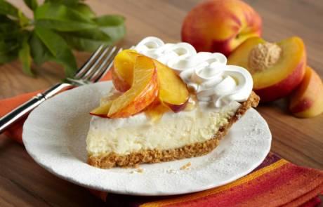 Fresh Peach Cheese Pie