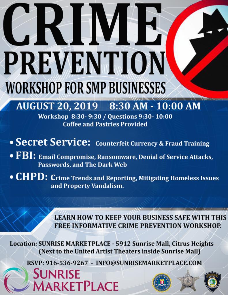 Crime Prevention Workshop Flyer
